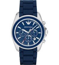 Emporio Armani Ar6068 Stainless Steel Watch Bl1 Blue 1