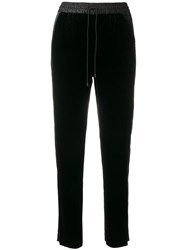 Elizabeth And James Side Stripe Casual Trousers Black
