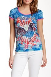 Custo Barcelona Bidi Flora Burnout Tee Blue