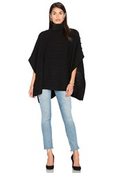 525 America Turtleneck Poncho Black