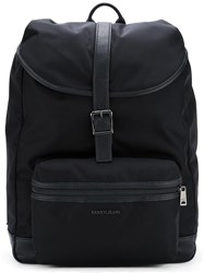 Armani Jeans Single Strap Fastening Backpack Blue
