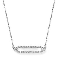 Bloomingdale's Diamond Geometric Pendant Necklace In 14K White Gold 16