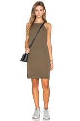 Michael Stars 2X1 Rib Cami Tank Dress Olive