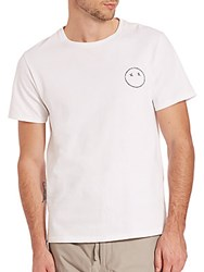 Rag And Bone Sour Face Embroidery Tee Bright White