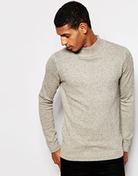 Selected Homme Turtle Neck Jumper With Fleck Lightgrey