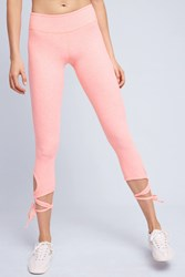 Anthropologie Wrapped Up Leggings Pink