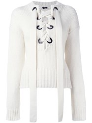 Joseph Lace Up Jumper White