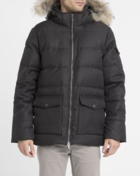 Pyrenex Grey Streaked Authentic Removable Fur Down Jacket