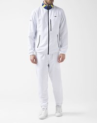 Lacoste White Sports High Neck Flag Tracksuit Set