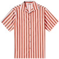 Lanvin Stripe Vacation Shirt Red