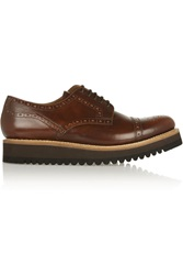 Grenson Lucy Leather Platform Brogues