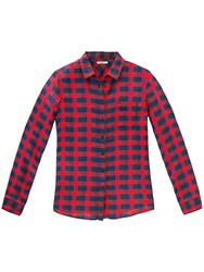 Lee One Pocket Check Shirt Primary Red