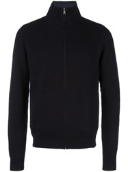 Hackett Zipped Cardigan Blue