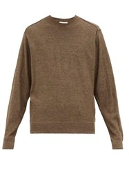 Christophe Lemaire Exposed Seam Wool Blend Sweater Brown