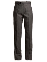 Balenciaga Prince Of Wales Checked High Rise Trousers Grey Multi