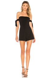 About Us Sandy Off Shoulder Tie Romper Black