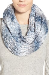 Women's Collection Xiix 'Honeycomb Shine' Knit Infinity Scarf Blue Glacial Blue