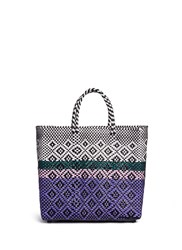 Truss Medium Woven Stripe Diamond Pvc Tote Multi Colour