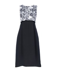 Fabrizio Lenzi 3 4 Length Dresses Black
