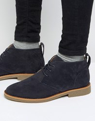 New Look Desert Boot In Navy Navy