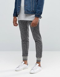 Native Youth Salt And Pepper Knitted Rib Jogger Black