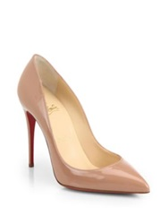 Christian Louboutin Pigalle Follies Patent Leather Pumps Nude Black