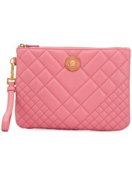 Versace Quilted Medusa Clutch Pink