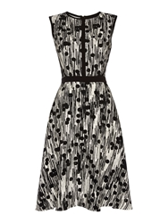 Pied A Terre Dress Fit And Flare Polka Dot Multi Coloured