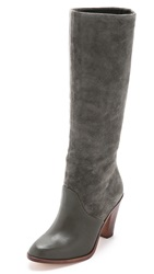 Splendid Sullie Tall Suede Boots Gray