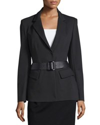 Donna Karan Belted Peplum Jacket Black