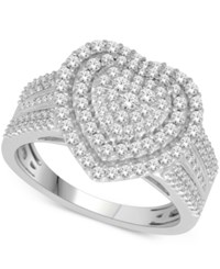 Macy's Diamond Heart Ring 1 Ct. T.W. In 14K White Gold