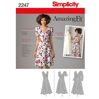 Simplicity Amazing Fit 'S Dress Sewing Pattern 2247