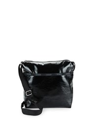 Le Sport Sac Small Cleo Crossbody Bag Black Crinkle Patent