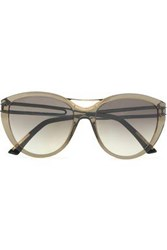 Roland Mouret D Frame Acetate Sunglasses Leaf Green