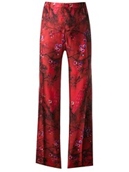 F.R.S For Restless Sleepers Floral Print Trousers Red