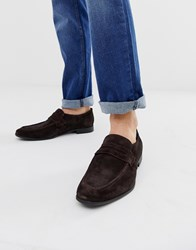 Kg By Kurt Geiger Loafers In Brown Suede
