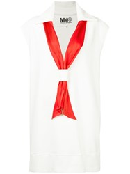 Maison Martin Margiela Mm6 Scarf Detail Dress White