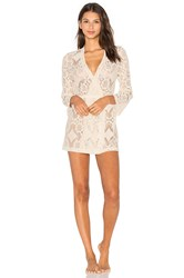 Only Hearts Club Mosaic Lace Short Robe Ivory