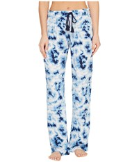 Pj Salvage Blue Batik Tie Dye Lounge Pants Navy Women's Casual Pants