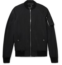 Rick Owens Shell Bomber Jacket Black