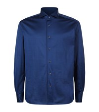 Corneliani Jersey Shirt Male Blue