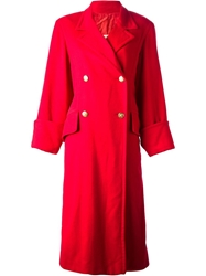 Hermes Vintage Oversized Coat Red