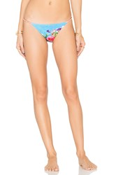 Sauvage Low Rise Chain Bikini Bottom Blue
