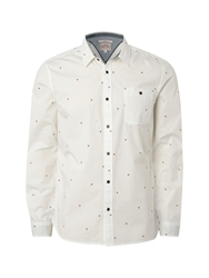 White Stuff Speccy Fox Slim Fit Long Sleeve Classic Collar Sh Smoke