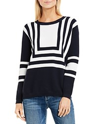 Vince Camuto Two By Nautical Intarsia Stripe Sweater Blue Night