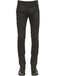 Balmain 16.5Cm Brut Biker Stretch Denim Jeans
