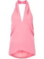Theory Halterneck Top Pink And Purple