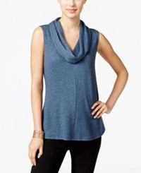Styleandco. Style Co. Sleeveless Cowl Neck Top Only At Macy's Industrial Blue Heather