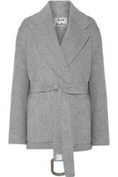 Acne Studios Lilo Double Belted Wool And Cashmere Blend Coat Gray