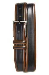 Mezlan Palma Leather Belt Tan Blue
